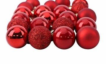 Toyland® Set Mit 50 Mini Weihnachtskugeln 25 Rot 25 Silber 2,5 cm (25 mm) - 4