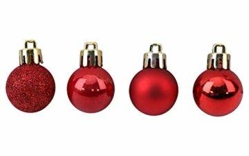 Toyland® Set Mit 50 Mini Weihnachtskugeln 25 Rot 25 Silber 2,5 cm (25 mm) - 5