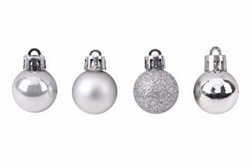 Toyland® Set Mit 50 Mini Weihnachtskugeln 25 Rot 25 Silber 2,5 cm (25 mm) - 6