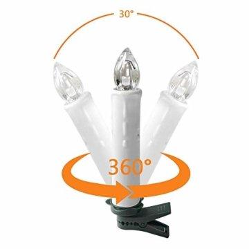 UISEBRT 30er LED Weihnachtskerzen mit Fernbedienung Kabellos Warmweiß Kerzen Flammenlose für Weihnachtsbaum, Weihnachtsdeko, Hochzeitsdeko, Geburtstags, Party, Feiertag (30er mit Batterie) - 3