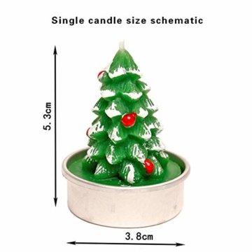 Weihnachtskerzen-Set, duftende umweltfreundliche Teelichter-Lampe für Hochzeits-Geburtstagsfeier-Weihnachtsvalentinstag - 2