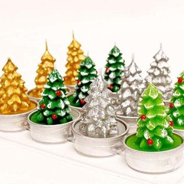 Weihnachtskerzen-Set, duftende umweltfreundliche Teelichter-Lampe für Hochzeits-Geburtstagsfeier-Weihnachtsvalentinstag - 3