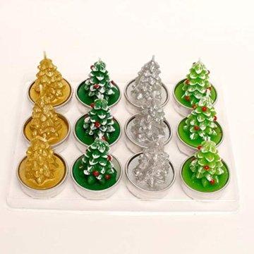 Weihnachtskerzen-Set, duftende umweltfreundliche Teelichter-Lampe für Hochzeits-Geburtstagsfeier-Weihnachtsvalentinstag - 4