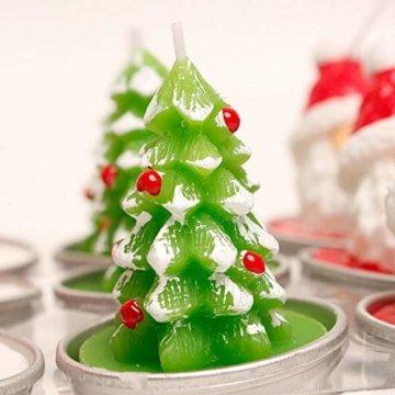 Weihnachtskerzen-Set, duftende umweltfreundliche Teelichter-Lampe für Hochzeits-Geburtstagsfeier-Weihnachtsvalentinstag - 5
