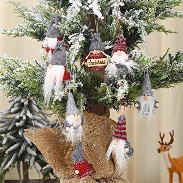 Weihnachtspuppe Handgemachte Plüsch Gnome Schwedische Süßes Figuren Weihnachtsdeko Gesichtslose Puppe Urlaub Geschenke Weihnachtsbaum Fenster Dekoration - 2