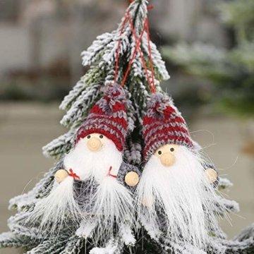 Weihnachtspuppe Handgemachte Plüsch Gnome Schwedische Süßes Figuren Weihnachtsdeko Gesichtslose Puppe Urlaub Geschenke Weihnachtsbaum Fenster Dekoration - 3