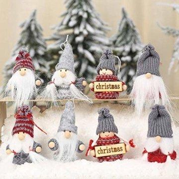 Weihnachtspuppe Handgemachte Plüsch Gnome Schwedische Süßes Figuren Weihnachtsdeko Gesichtslose Puppe Urlaub Geschenke Weihnachtsbaum Fenster Dekoration - 4