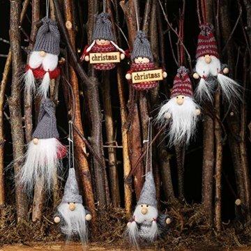 Weihnachtspuppe Handgemachte Plüsch Gnome Schwedische Süßes Figuren Weihnachtsdeko Gesichtslose Puppe Urlaub Geschenke Weihnachtsbaum Fenster Dekoration - 5