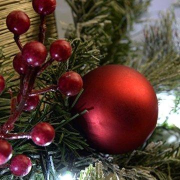 WeRChristmas Weihnachtsdekoration 9ft Frosted beleuchteter Weihnachtsgirlande beleuchtet mit 40cool weiß LED-Lichter - 2