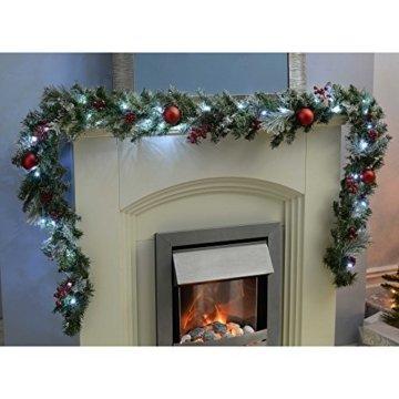 WeRChristmas Weihnachtsdekoration 9ft Frosted beleuchteter Weihnachtsgirlande beleuchtet mit 40cool weiß LED-Lichter - 3