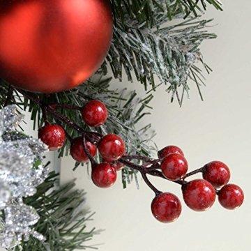 WeRChristmas Weihnachtsdekoration 9ft Frosted beleuchteter Weihnachtsgirlande beleuchtet mit 40cool weiß LED-Lichter - 4