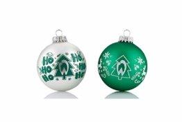 Werder Bremen Christbaumkugeln/Weihnachtskugeln 4 er Set - 1