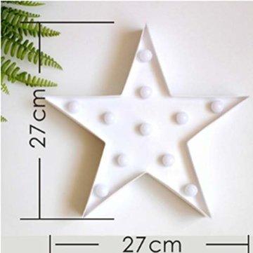 Wringo Dekorative Buchstaben Licht Stern Form LED Kunststoff Festzelt Licht Batteriebetrieben LED Festzelt Schild für Zuhause Weihnachten Dekoration - 2