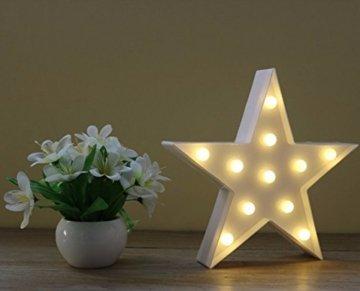 Wringo Dekorative Buchstaben Licht Stern Form LED Kunststoff Festzelt Licht Batteriebetrieben LED Festzelt Schild für Zuhause Weihnachten Dekoration - 4