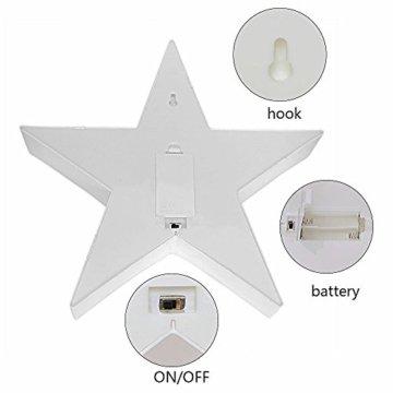 Wringo Dekorative Buchstaben Licht Stern Form LED Kunststoff Festzelt Licht Batteriebetrieben LED Festzelt Schild für Zuhause Weihnachten Dekoration - 1