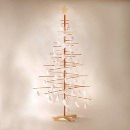xmas3 L-190 cm Weihnachtsbaum aus Holz, Natural, 100 x 100 x 190 cm - 1