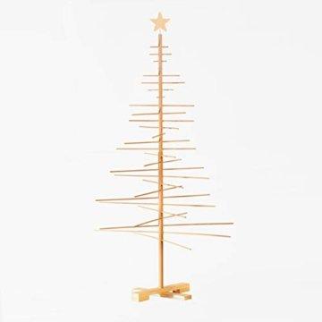 xmas3 L-190 cm Weihnachtsbaum aus Holz, Natural, 100 x 100 x 190 cm - 7