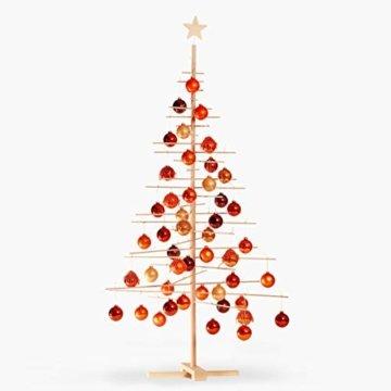 xmas3 L-190 cm Weihnachtsbaum aus Holz, Natural, 100 x 100 x 190 cm - 8