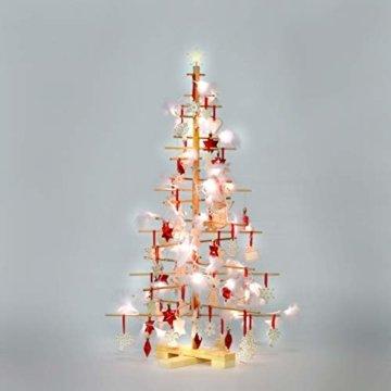 xmas3 M-125 cm Weihnachtsbaum aus Holz, Natural, 68 x 68 x 125 cm - 1