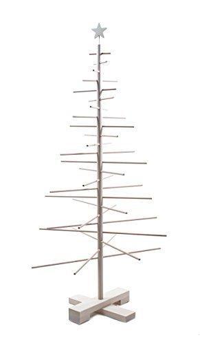 xmas3 M-125 cm Weihnachtsbaum aus Holz, Natural, 68 x 68 x 125 cm - 3