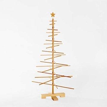 xmas3 M-125 cm Weihnachtsbaum aus Holz, Natural, 68 x 68 x 125 cm - 4