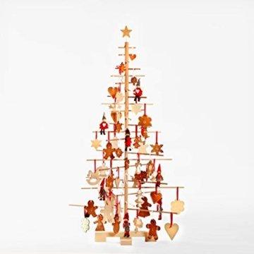 xmas3 M-125 cm Weihnachtsbaum aus Holz, Natural, 68 x 68 x 125 cm - 5