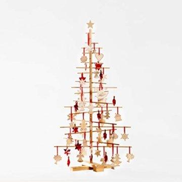 xmas3 M-125 cm Weihnachtsbaum aus Holz, Natural, 68 x 68 x 125 cm - 7