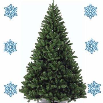 XONIC Künstlicher Weihnachtsbaum Tannenbaum 30,60,90,120, 150, 180,210 240cm Christbaum Baum GRÜN Weiss Schnee (180, GRÜN) - 2