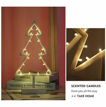 ZHANGYY LED Weihnachtsbaum geformte Nachtlicht Innenwand Dekor Licht betrieben von Batterie für Geburtstagsfeier Dekoration, Kinderzimmer, Wohnzimmer, Hochzeitsfeier Dekor - 2