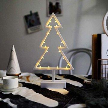 ZHANGYY LED Weihnachtsbaum geformte Nachtlicht Innenwand Dekor Licht betrieben von Batterie für Geburtstagsfeier Dekoration, Kinderzimmer, Wohnzimmer, Hochzeitsfeier Dekor - 3