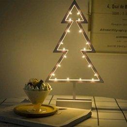 ZHANGYY LED Weihnachtsbaum geformte Nachtlicht Innenwand Dekor Licht betrieben von Batterie für Geburtstagsfeier Dekoration, Kinderzimmer, Wohnzimmer, Hochzeitsfeier Dekor - 1