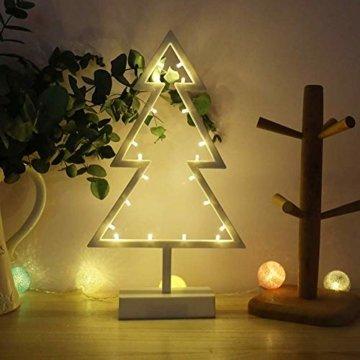 ZHANGYY LED Weihnachtsbaum geformte Nachtlicht Innenwand Dekor Licht betrieben von Batterie für Geburtstagsfeier Dekoration, Kinderzimmer, Wohnzimmer, Hochzeitsfeier Dekor - 4