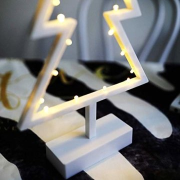 ZHANGYY LED Weihnachtsbaum geformte Nachtlicht Innenwand Dekor Licht betrieben von Batterie für Geburtstagsfeier Dekoration, Kinderzimmer, Wohnzimmer, Hochzeitsfeier Dekor - 5