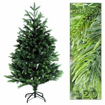 120cm BonTree Tanne Weihnachtsbaum Tannenbaum künstlich aus Spritzguss/PVC-Mix - 4