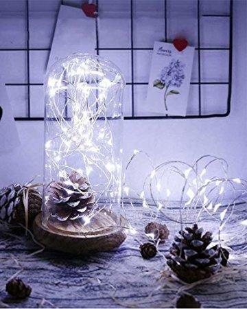 (16 Stück) Flaschenlicht Batterie, kolpop Flaschenlichterkette Korken 2M 20LED Glas Korken Licht Lichterkette mit Batterie für Flasche für außen/innen Deko für Party, Hochzeit, Weihnachten(KaltesWeiß) - 4