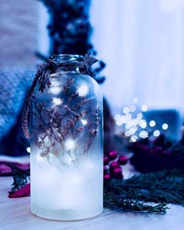 (16 Stück) Flaschenlicht Batterie, kolpop Flaschenlichterkette Korken 2M 20LED Glas Korken Licht Lichterkette mit Batterie für Flasche für außen/innen Deko für Party, Hochzeit, Weihnachten(KaltesWeiß) - 5