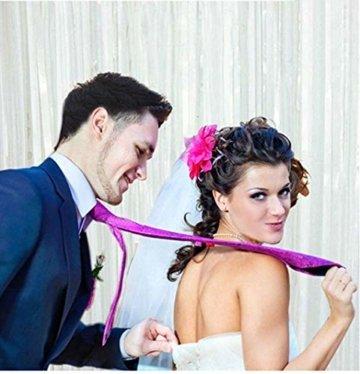 2 Stück Folien Fransenvorhang, weißes Lametta, metallische Vorhänge, Foto Hintergrund für Hochzeit, Verlobung, Brautparty, Geburtstag, Junggesellinnenabschied, Bühnendekoration(3,28 ft x 6,56 ft) - 2