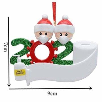 2020 Weihnachtsschmuck,DIY Personalisierte Überlebende Familie Von 2, 3, 4, 5,6,7 Weihnachten 2020 Christmas Ornament Segen Harz Schneemann Weihnachtsbaum Hängen Anhänger Für Weihnachtsbaum Deko - 3