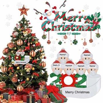 2020 Weihnachtsschmuck,DIY Personalisierte Überlebende Familie Von 2, 3, 4, 5,6,7 Weihnachten 2020 Christmas Ornament Segen Harz Schneemann Weihnachtsbaum Hängen Anhänger Für Weihnachtsbaum Deko - 6