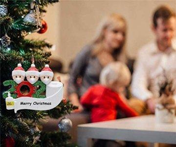 2020 Weihnachtsschmuck,DIY Personalisierte Überlebende Familie Von 2, 3, 4, 5,6,7 Weihnachten 2020 Christmas Ornament Segen Harz Schneemann Weihnachtsbaum Hängen Anhänger Für Weihnachtsbaum Deko - 7