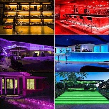 20M LED Schlauch Lichterkette Außen, 200er LED Weihnachtsbeleuchtung Außen IP68, 16 Farben Lichterkette Innen Strombetrieben, Patio Lichterschlauch mit Fernbedienung für Zimmer Halloween Weihnachten - 3