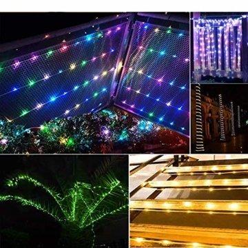 20m LED Schlauch Lichterkette Innen, Weihnachtsbeleuchtung Außen Wasserdicht, Bunt Lichterkette Innen Strombetrieben, 16 Farben Lichterschlauch, Lichterketten für Halloween Weihnachten Zimmer Garten - 2
