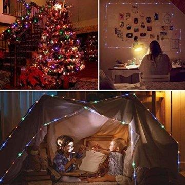 20m LED Schlauch Lichterkette Innen, Weihnachtsbeleuchtung Außen Wasserdicht, Bunt Lichterkette Innen Strombetrieben, 16 Farben Lichterschlauch, Lichterketten für Halloween Weihnachten Zimmer Garten - 4