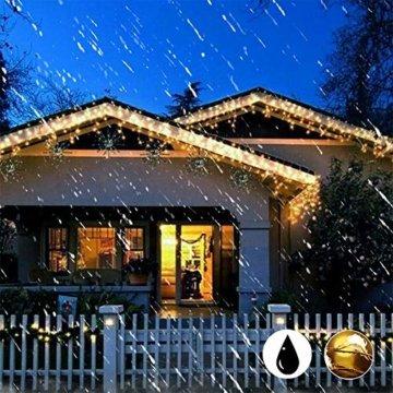 [220 LED] Lichterkette, 25M 8 Modi lichterkette außen strom lichterketten wasserdicht außen/innen Kupfer Lichterketten mit Remote-Timer zum Schlafzimmer, balkon möbel, Party, Weihnachten (Warmweiß) - 6