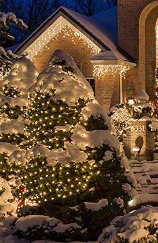 23m 360er LED Niedervolt Lichterkette wasserdichte dekorative Leuchten LED String Licht Wünderschöne Deko für Weihnachten, Hochzeit, Zuhause, Garten, Balkon, Terrasse - Warmweiß - 2