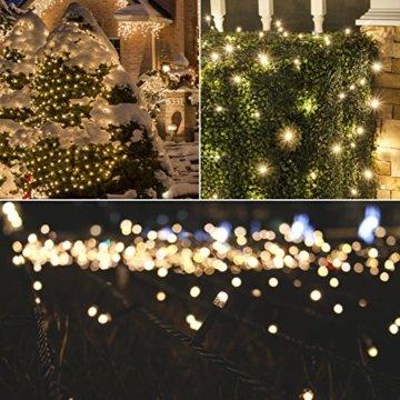 23m 360er LED Niedervolt Lichterkette wasserdichte dekorative Leuchten LED String Licht Wünderschöne Deko für Weihnachten, Hochzeit, Zuhause, Garten, Balkon, Terrasse - Warmweiß - 4