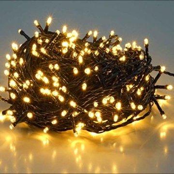 23m 360er LED Niedervolt Lichterkette wasserdichte dekorative Leuchten LED String Licht Wünderschöne Deko für Weihnachten, Hochzeit, Zuhause, Garten, Balkon, Terrasse - Warmweiß - 1