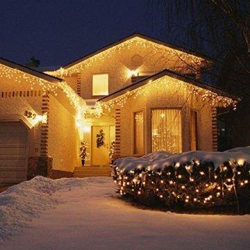23m 360er LED Niedervolt Lichterkette wasserdichte dekorative Leuchten LED String Licht Wünderschöne Deko für Weihnachten, Hochzeit, Zuhause, Garten, Balkon, Terrasse - Warmweiß - 5