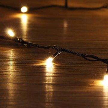 23m 360er LED Niedervolt Lichterkette wasserdichte dekorative Leuchten LED String Licht Wünderschöne Deko für Weihnachten, Hochzeit, Zuhause, Garten, Balkon, Terrasse - Warmweiß - 6