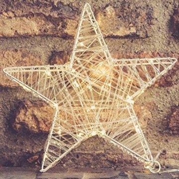 30 Led Stern Fenster 30cm Acryl Weihnachtsbeleuchtung Innen Stern Deko Weihnachtsdeko Fenster Beleuchtet Weihnachtsstern Batteriebetrieben - 6